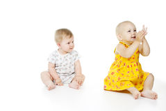 Two beautiful children a girl Stock Image