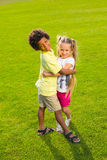 Two beautiful children. Royalty Free Stock Images