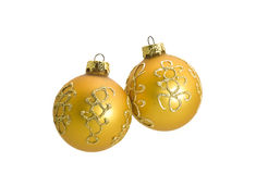 Two Beautiful Christmas decoration balls royalty free stock photo