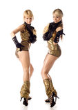 Two beautiful dancer girl  isolated Stock Photo