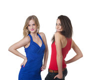 Two beautiful fashion girls Stock Photography