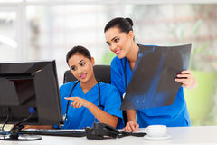 Female healthcare workers Royalty Free Stock Images