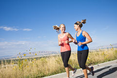 Two Beautiful Female Joggers Stock Photography