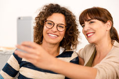 Best friends making a selfie Stock Photo