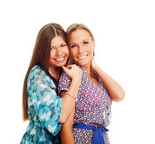Two beautiful friends Stock Images