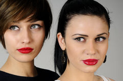 Two beautiful friends Stock Photography