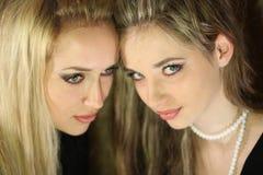 Two beautiful girl Stock Photos