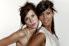 Two beautiful girl Stock Photography