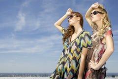 Two beautiful girl in sunglasses Stock Image