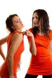 Two beautiful girlfriends royalty free stock image