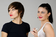 Two beautiful girls Stock Images