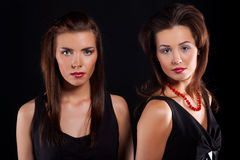 Two beautiful girls. Stock Images