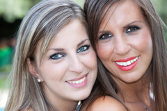 Two beautiful girls Royalty Free Stock Photos