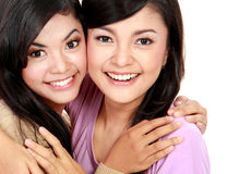 Two beautiful girls Royalty Free Stock Image