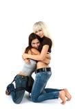 Two Beautiful Girls Stock Photography