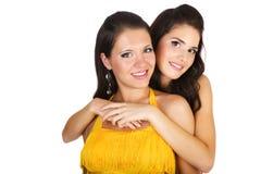 Two beautiful girls Stock Photos