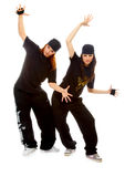 Two beautiful girls breakdancers Royalty Free Stock Images