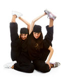 Two beautiful girls breakdancers Stock Photography