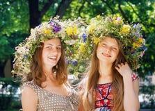 Two beautiful girls royalty free stock photos