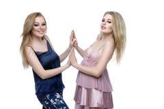 Two beautiful girls in night wear Stock Photography
