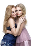 Two beautiful girls in night wear Royalty Free Stock Photography