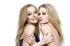 Two beautiful girls in night wear Royalty Free Stock Photos