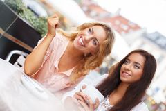 Two beautiful girls outdoors Royalty Free Stock Photo