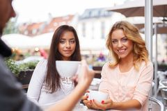 Two beautiful girls outdoors Royalty Free Stock Image