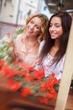 Two beautiful girls outdoors Stock Photos
