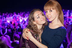 Two beautiful girls in a party Royalty Free Stock Image