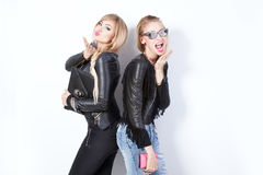 Two beautiful girls posing. Stock Photography