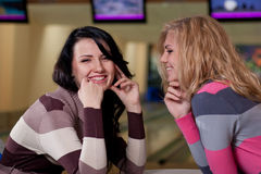 Two beautiful girls talking Royalty Free Stock Photo