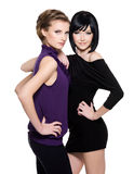 Two beautiful glamour women Royalty Free Stock Photo