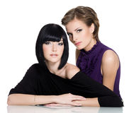 Two beautiful glamour young women Royalty Free Stock Images
