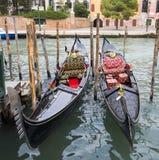 Two Beautiful Gondolas Stock Photos