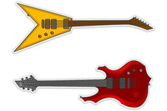 Two beautiful guitars. Two beautiful electric guitars illustration Royalty Free Stock Image