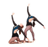 Two beautiful gymnasts Royalty Free Stock Photos