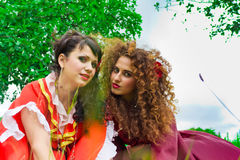 Two beautiful gypsy girls Stock Photo