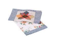 Two beautiful handmade quilts. Royalty Free Stock Photography