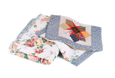 Two beautiful handmade quilts. Royalty Free Stock Photo