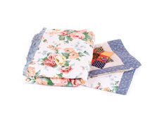 Two beautiful handmade quilts. Stock Photography
