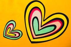 Two beautiful hearts Stock Photos