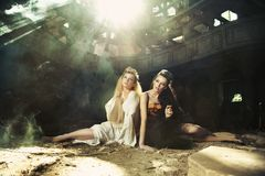 Two beautiful ladies Royalty Free Stock Images