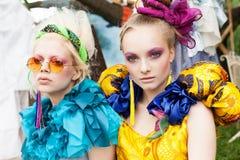 Two beautiful ladies Royalty Free Stock Photo