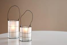 Two beautiful lanterns Stock Photography