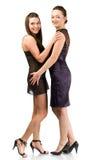 Two beautiful laughing women Stock Image