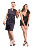 Two beautiful laughing women Royalty Free Stock Photography