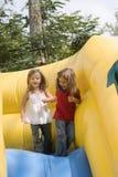 Two beautiful little girls having fun Royalty Free Stock Images