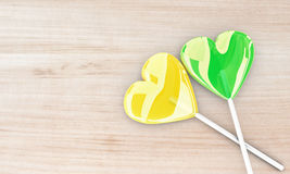 Two beautiful lollipops Stock Images