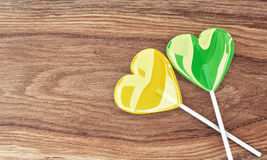 Two beautiful lollipops Royalty Free Stock Images